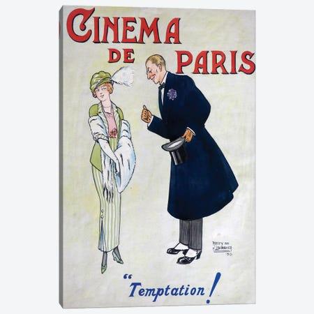 Cinema de Paris, Temptation! Canvas Print #VAC1469} by Vintage Apple Collection Canvas Print