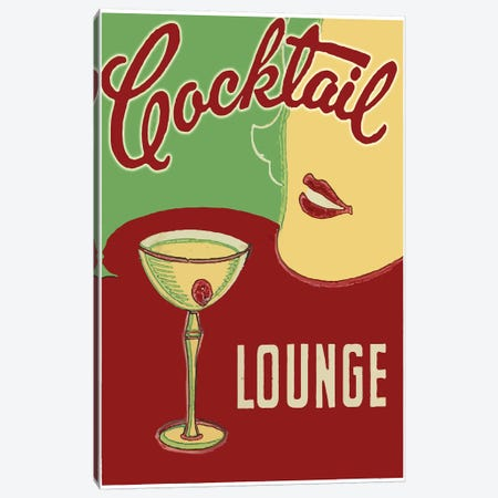 Cocktail Lounge 3-Piece Canvas #VAC1473} by Vintage Apple Collection Canvas Art