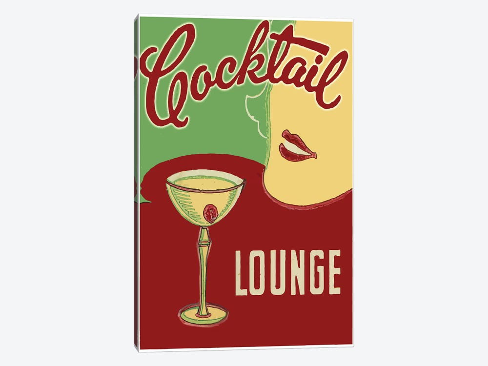 Cocktail Lounge by Vintage Apple Collection 1-piece Canvas Print