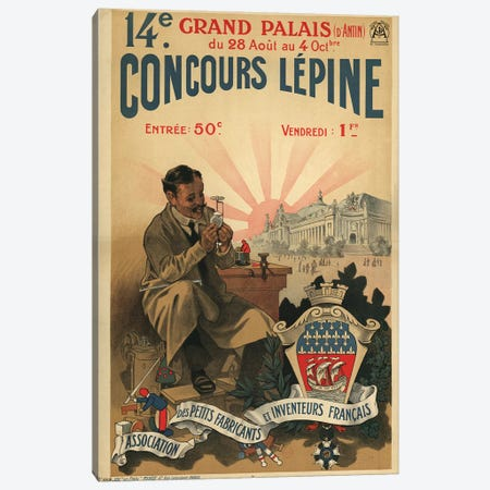 Concours Lépine 1910 Canvas Print #VAC1478} by Vintage Apple Collection Canvas Artwork