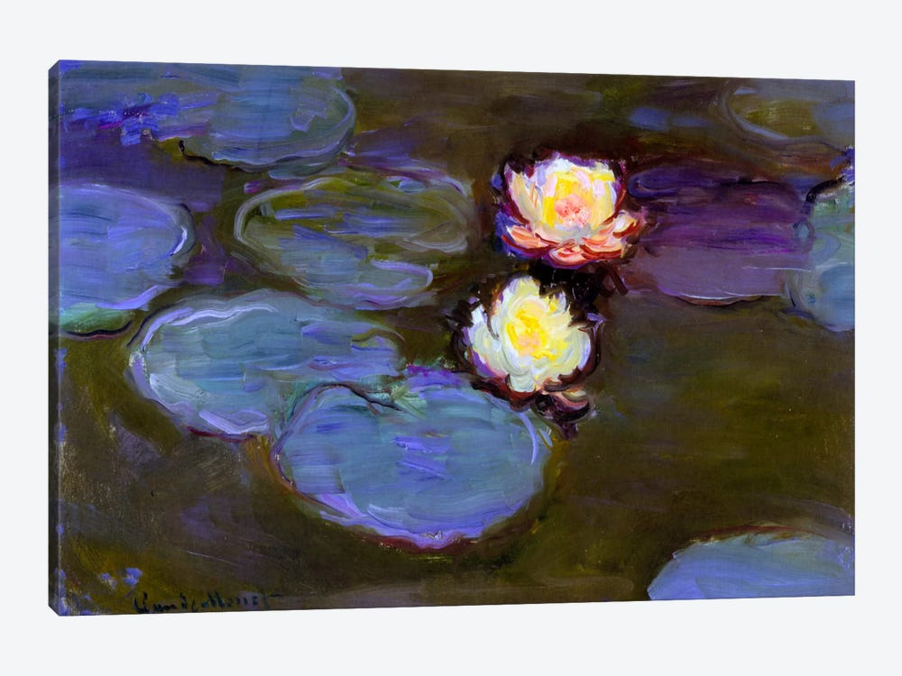 Monet, Water Lily detail_blur by Vintage Apple Collection 1-piece Canvas Art