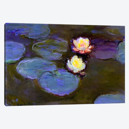 Monet, Water Lily detail_blur Canvas Print #VAC147} by Vintage Apple Collection Canvas Print
