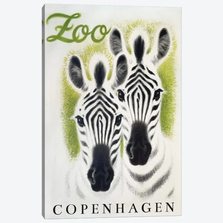 Copenhagen Zoo Canvas Print #VAC1482} by Vintage Apple Collection Canvas Print