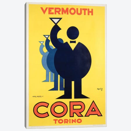 Cora Vermouth Canvas Print #VAC1484} by Vintage Apple Collection Canvas Artwork