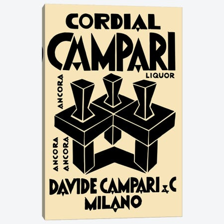 Cordial Campari Liquor Canvas Print #VAC1485} by Vintage Apple Collection Canvas Wall Art