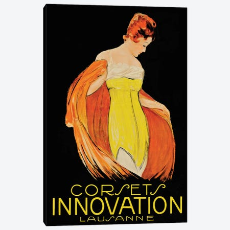 Corsets Innovation Lausanne Canvas Print #VAC1488} by Vintage Apple Collection Art Print