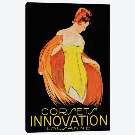 Corsets Innovation Lausanne Canvas Print #VAC1488} by Vintage Apple Collection Art Print