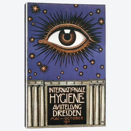 Cosmic Eye International Hygiene, 1911 Canvas Print #VAC1489} by Vintage Apple Collection Art Print
