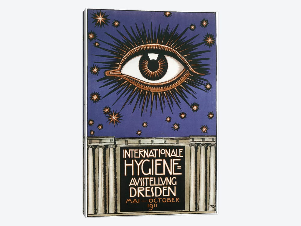 Cosmic Eye International Hygiene, 1911 by Vintage Apple Collection 1-piece Canvas Artwork