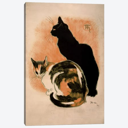 Steinlen, Twocats_filter Canvas Print #VAC148} by Vintage Apple Collection Canvas Wall Art