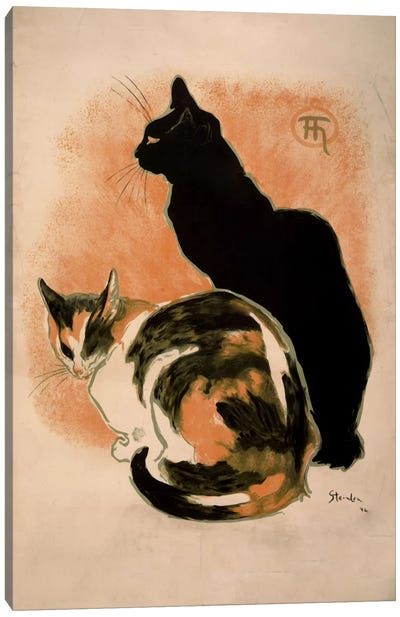 Steinlen, Twocats_filter Canvas Art Print