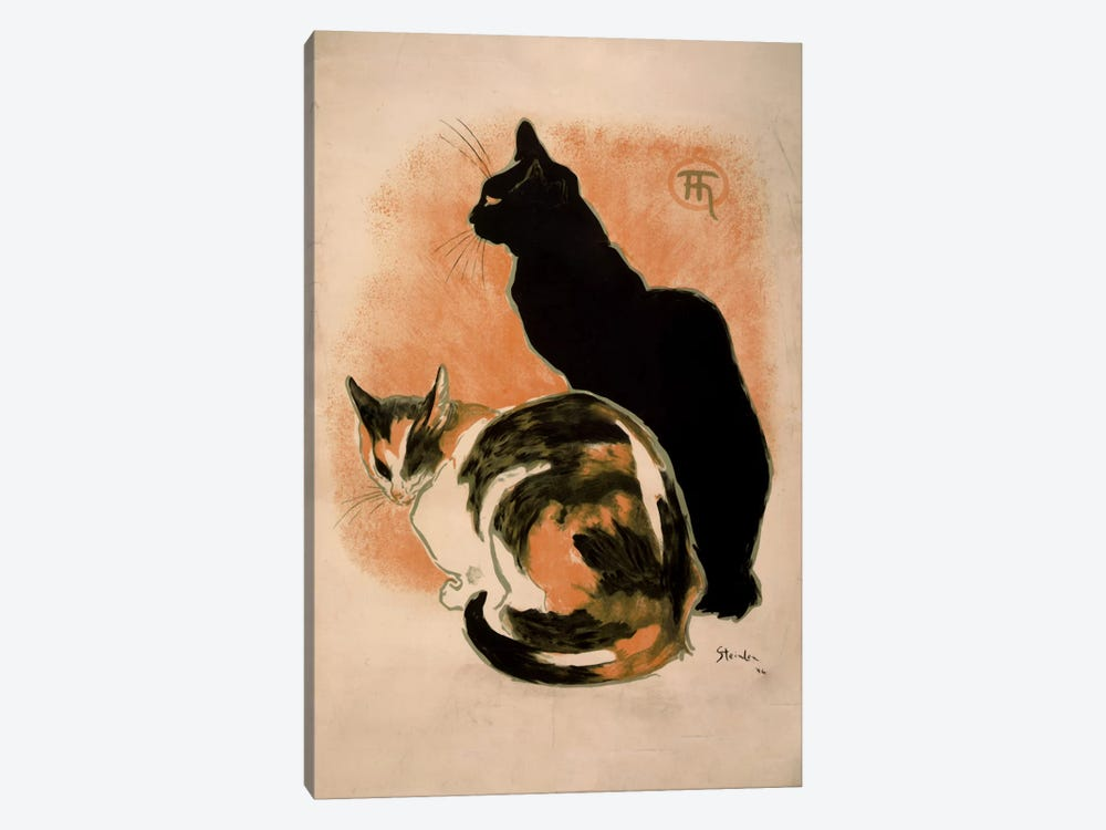 Steinlen, Twocats_filter by Vintage Apple Collection 1-piece Art Print