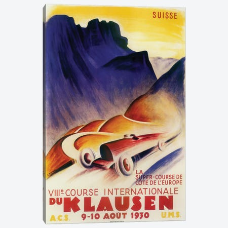 Course Internationale du Klausen, 1930 Canvas Print #VAC1491} by Vintage Apple Collection Canvas Art