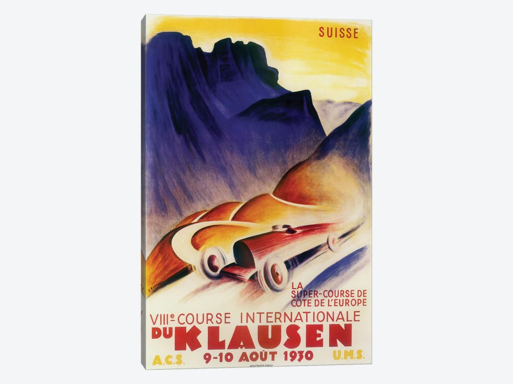 Course Internationale du Klausen, 1930 by Vintage Apple Collection 1-piece Art Print
