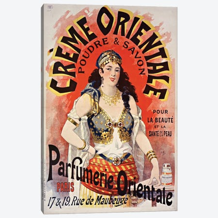 Crème Orientale Canvas Print #VAC1494} by Vintage Apple Collection Art Print