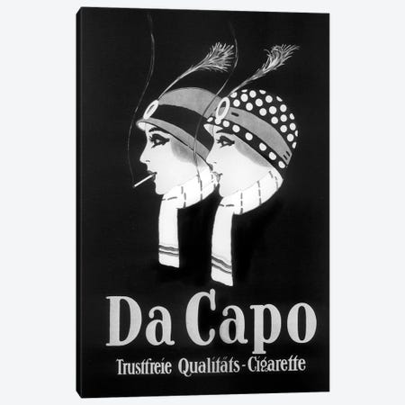Da Capo Cigarettes Canvas Print #VAC1498} by Vintage Apple Collection Canvas Wall Art