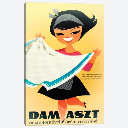 Dam Aszt, Tablecloth Girl Canvas Print #VAC1499} by Vintage Apple Collection Canvas Artwork