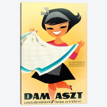Dam Aszt, Tablecloth Girl Canvas Print #VAC1499} by Vintage Apple Collection Canvas Artwork
