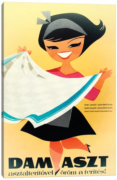 Dam Aszt, Tablecloth Girl Canvas Art Print