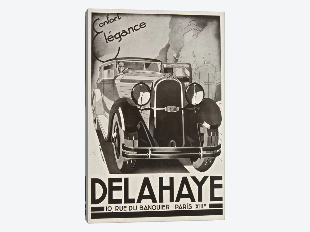 Delahaye Automobile, Paris by Vintage Apple Collection 1-piece Canvas Artwork