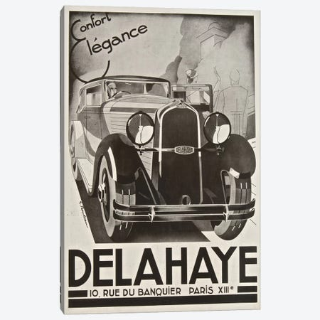 Delahaye Automobile, Paris Canvas Print #VAC1504} by Vintage Apple Collection Canvas Art Print