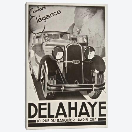 Delahaye Automobile, Paris Canvas Print #VAC1504} by Vintage Apple Collection Canvas Art Print