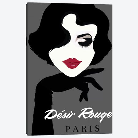 Désir Rouge Paris Canvas Print #VAC1507} by Vintage Apple Collection Art Print