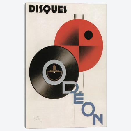 Disques Odeon, 1929 3-Piece Canvas #VAC1511} by Vintage Apple Collection Canvas Art Print