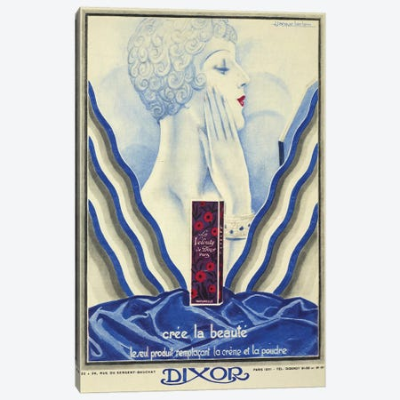 Dixor Beauty Cream Canvas Print #VAC1513} by Vintage Apple Collection Canvas Print