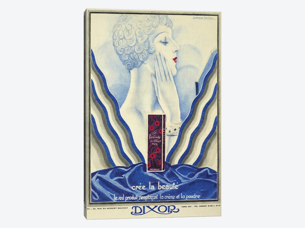 Dixor Beauty Cream by Vintage Apple Collection 1-piece Canvas Wall Art