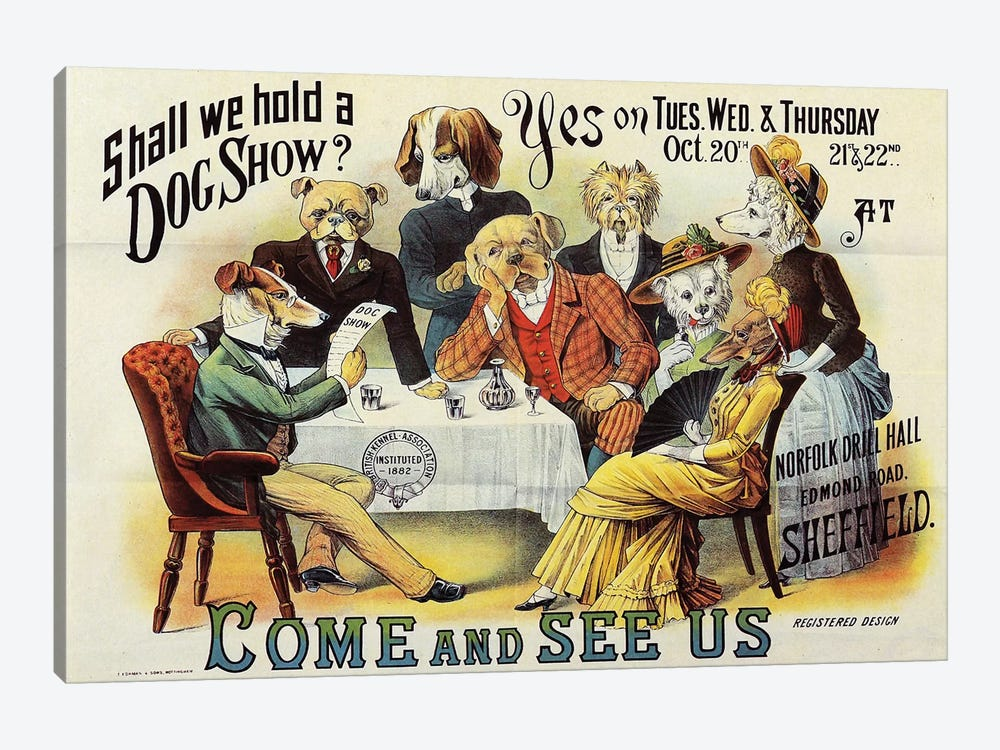 Dog Show, Sheffield by Vintage Apple Collection 1-piece Canvas Print