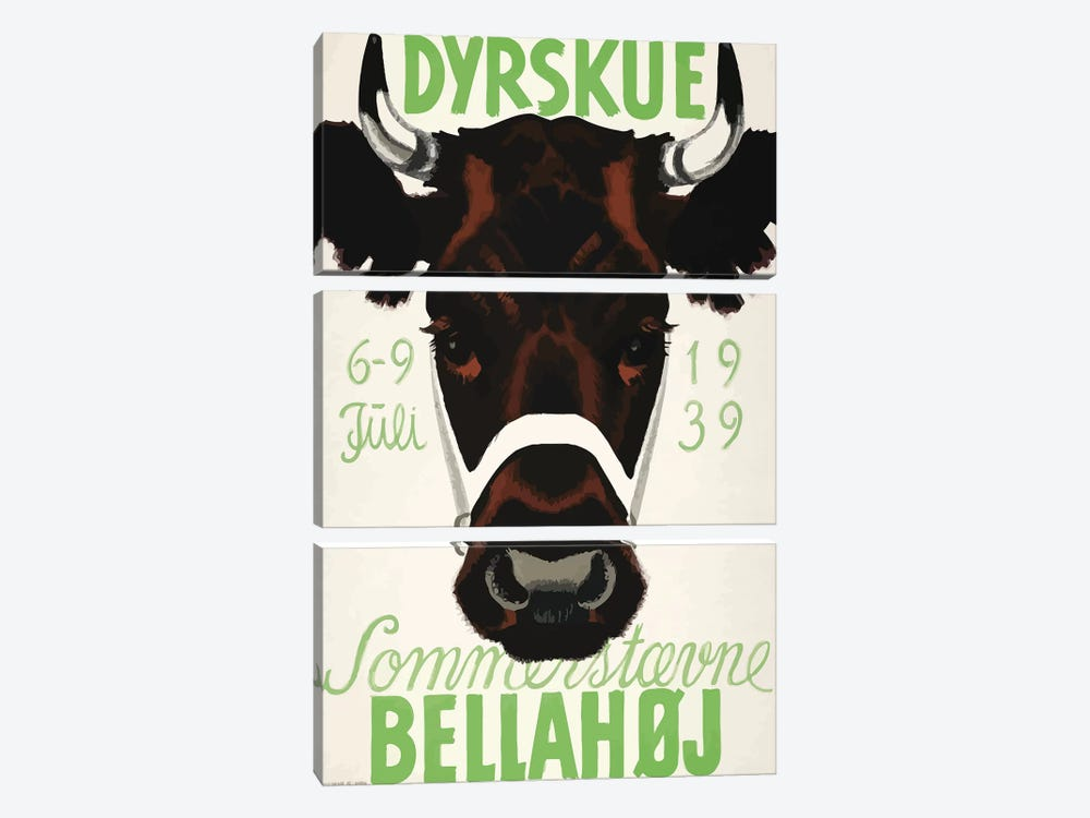 Dyrskue, July 6-9, 1939 by Vintage Apple Collection 3-piece Canvas Print