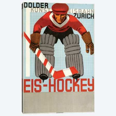 Eis Hockey, Zurich Canvas Print #VAC1527} by Vintage Apple Collection Canvas Print
