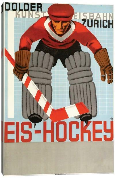 Eis Hockey, Zurich Canvas Art Print