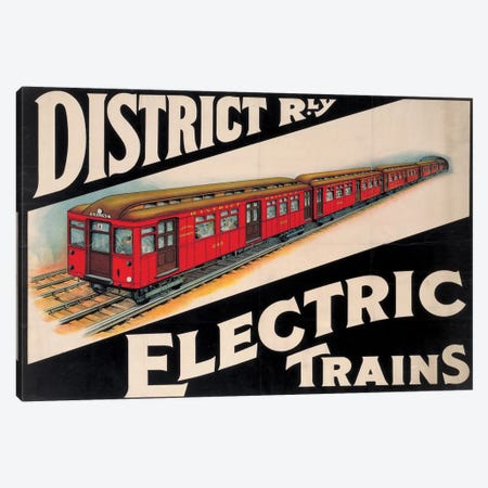 Electric Trains Canvas Print #VAC1528} by Vintage Apple Collection Canvas Art