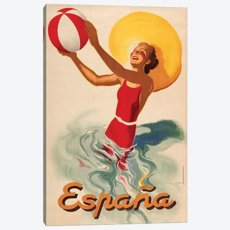 España Outdoors Canvas Print #VAC1534} by Vintage Apple Collection Canvas Art