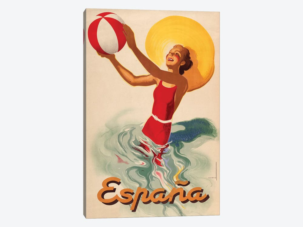 España Outdoors by Vintage Apple Collection 1-piece Canvas Art Print