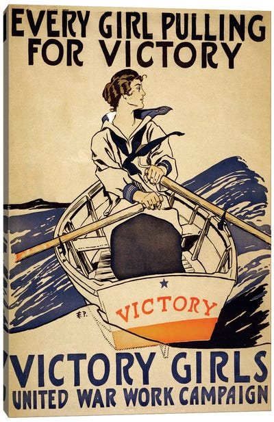 Every Girl Pulling For Victory Canvas Art Print