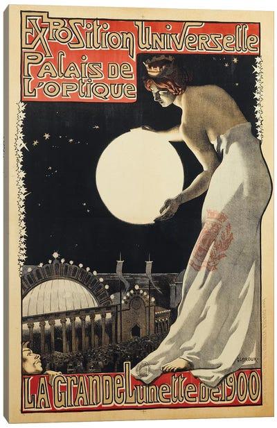 Exposition Universelle Palais de l'Optique, 1900 Canvas Art Print