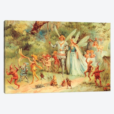 Fairies III Canvas Print #VAC1546} by Vintage Apple Collection Canvas Art Print