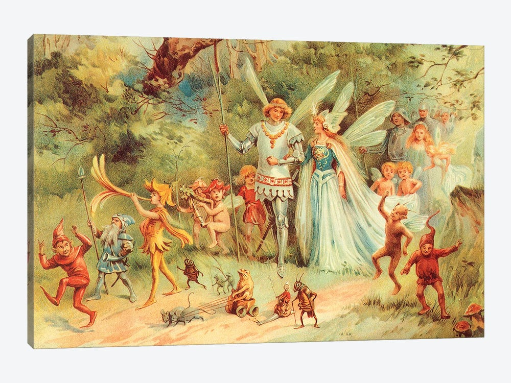 Fairies III by Vintage Apple Collection 1-piece Canvas Artwork