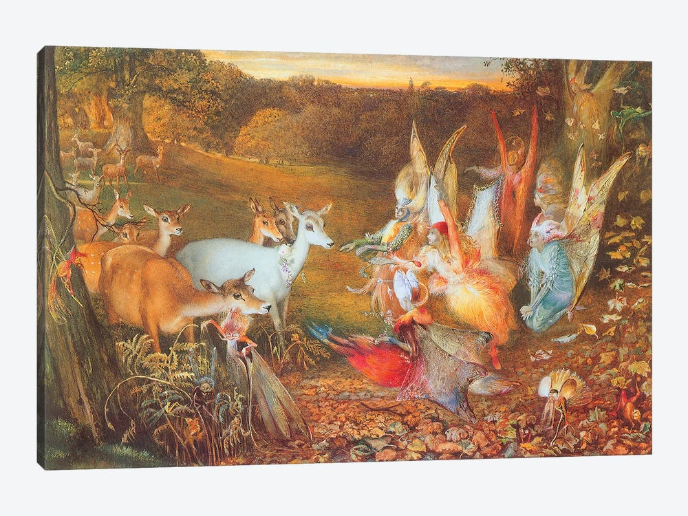 Fairies VI by Vintage Apple Collection 1-piece Canvas Art Print