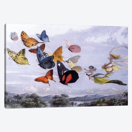 Fairy Butterflies Canvas Print #VAC1552} by Vintage Apple Collection Canvas Print