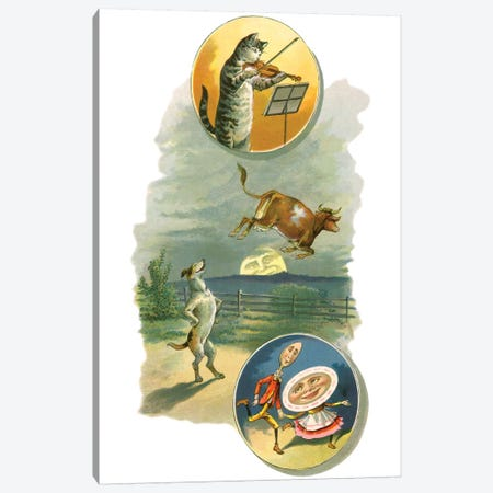 Fairy Tale Collage IV Canvas Print #VAC1556} by Vintage Apple Collection Canvas Artwork