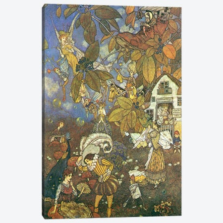 Fairy Tale VI Canvas Print #VAC1563} by Vintage Apple Collection Canvas Art