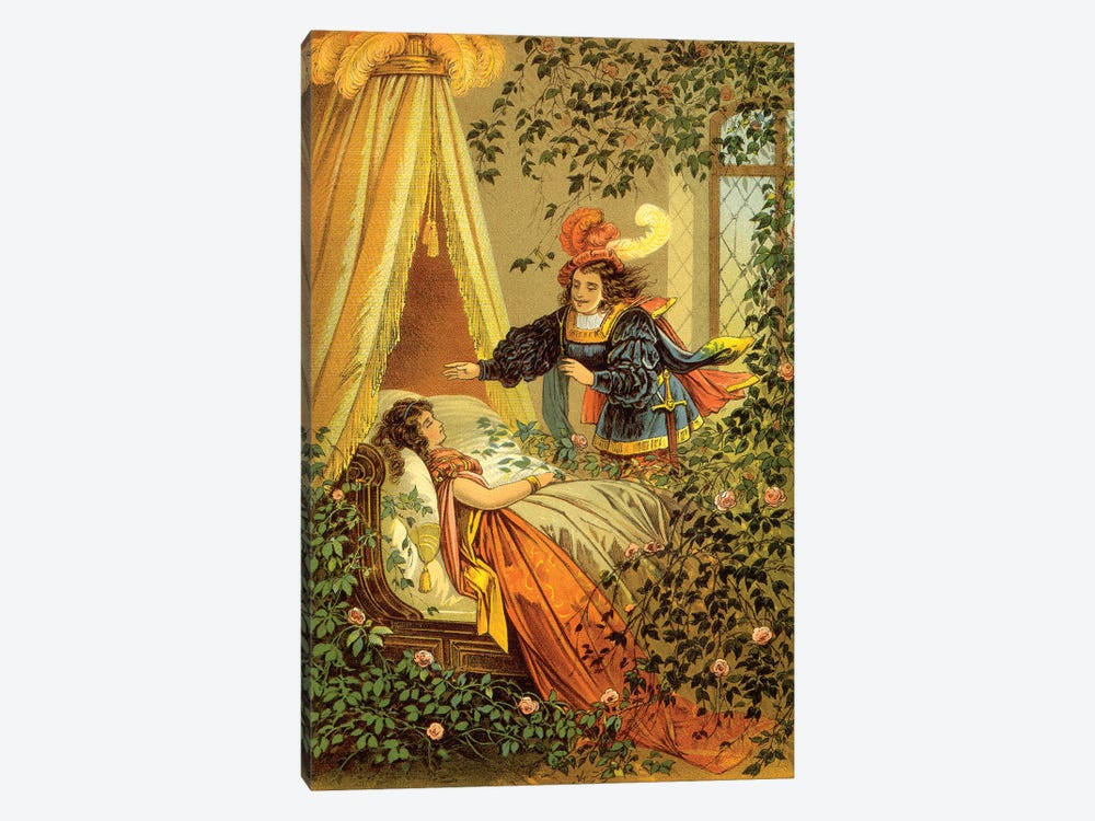 Fairy Tale XVII by Vintage Apple Collection 1-piece Canvas Print