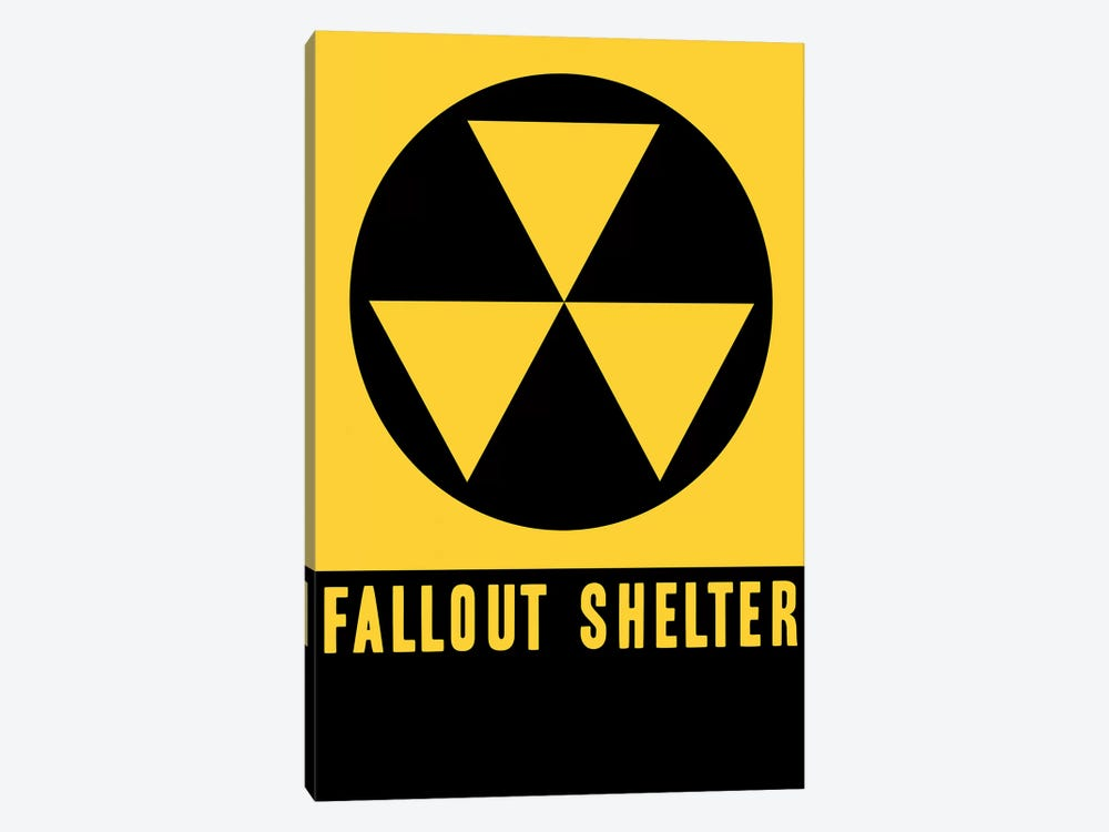 Fallout Shelter Sign by Vintage Apple Collection 1-piece Canvas Art Print