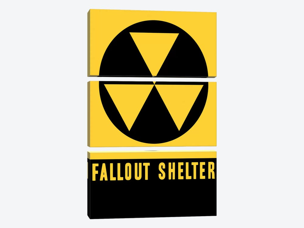 Fallout Shelter Sign by Vintage Apple Collection 3-piece Art Print