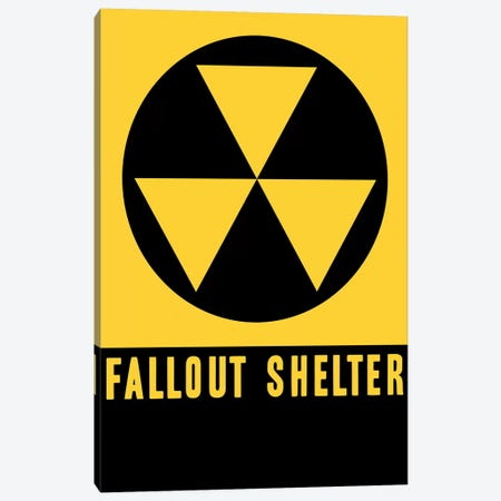 Fallout Shelter Sign Canvas Print #VAC1581} by Vintage Apple Collection Canvas Art