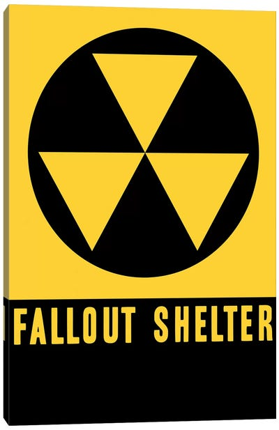 Fallout Shelter Sign Canvas Art Print